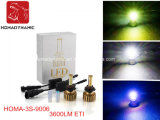 Coche caliente H4 H7 9005 de la lámpara del poder más elevado de la venta 3s LED linterna ligera del coche de 9006 Hb4 LED LED