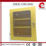 Estação amarela do fechamento da caixa do fechamento da cor para o cadeado da segurança da indústria