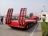 半100ton 4車軸低いベッドのトレーラーの油圧Lowboyのトラックのトレーラー