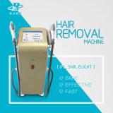 Macchina di rimozione dei capelli di IPL di ringiovanimento della pelle con 2 maniglie