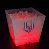 Cubeta geada recarregável iluminada diodo emissor de luz da cubeta de gelo grande Champagne 10L