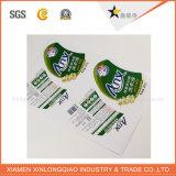 Personalizado Rolls vinilo blanco de impresión de etiquetas de etiqueta engomada adhesiva