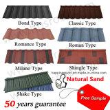 Venda quente em folha revestida do telhado do metal da areia de África
