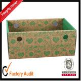 Mangos más baratos de encargo al por mayor del almacén de las frutas del supermercado pila de discos la caja de cartón de la visualización con la impresión, frutas que empaquetan el rectángulo, rectángulo de regalo de papel