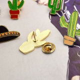 Decklack-Kaktus-stachelige Birne und Raumfahrzeug-Gold/Silber überzogene Broschen