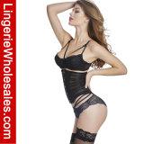 La maglia sexy delle donne ha barrato il corsetto più bustier trasparente di Underbust disossato Cincher della vita