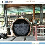 Tipo planta especial da câmara de ar da eficiência elevada de 20 Tpd da pirólise do pneumático com porta completamente aberta