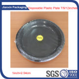 9 polegadas de placa plástica descartável preta