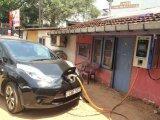Elektrische het Laden van de Auto Post