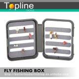 Kleiner doppelter seitlicher Plastikfischen-Fliegen-Kasten