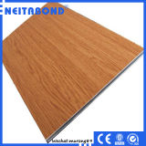 Linyi Factory 3mm Wood Texture Aluminum Composite Panel para Interior Wall Decoration