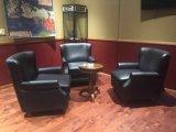 タバコカラー革張りのいす、シガーのクラブチェア、ホテルの椅子(A888)