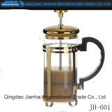 Hauptdekoration-Glasflaschen-Franzose-Presse-Kaffee-Potenziometer