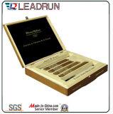 Rectángulo de madera del recuerdo de la caja del regalo del cigarrillo del cigarro con la pieza inserta de la espuma de la ampolla de EVA (YL20)