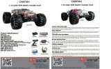 Big Monster Truck RC RC 1/10 RTR eléctrico Truggy Off-Road (pintura de Shell blanco y azul)