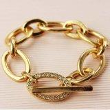 Nam de Gouden Armbanden van de Keten van de Link van het Kristal van de Kleur voor de Juwelen van Vrouwen 5A toe