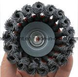 Escova de limpeza profissional do engranzamento de fio do aço inoxidável feita em China