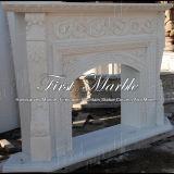 Cheminée blanche de bonne qualité de Carrare pour les meubles à la maison Mfp-550