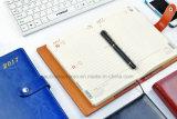 Il cuoio settimanale dell'unità di elaborazione del pianificatore 2017 copre il diario di marchio personalizzato