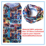공장 생성 주문 로고에 의하여 인쇄되는 폴리에스테 Microfiber 다기능 담황색 스카프
