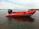 Aqualand 14feet 4.2m Rib Motor Boat Rigid Inflatable Boat (RIB420A)