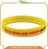 Bracelet en caoutchouc personnalisé de silicones de Debossed