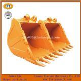 Shantui Sanyi小松のローダーの予備品の標準石のバケツ