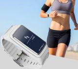Auriculares de Bluetooth com o bracelete esperto do relógio do esporte da função do atendimento