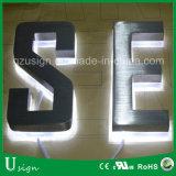 LEDによってバックライトを当てられる(304タイプ)ステンレス鋼の経路識別文字の印