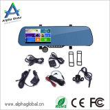 Dash Cam Android de 5 pulgadas Espejo trasero grabadora de vídeo con navegación GPS