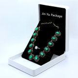 Rectángulo de empaquetado grande del color de la joyería blanca y negra del regalo para el collar