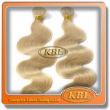 Естественный бразильский белокурый Kinky Weave курчавых волос