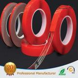Côté acrylique de double de mousse de film rouge/bande dégrossie