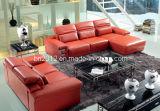 居間の本革のソファー(SBO-5908)