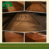 Noix/Ash/Sapele Molded Veneer Door Skin avec Different Panel