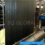 108GSM de zwarte Stof van de Mat van de Controle van het Onkruid met het Planten van Lijn
