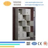 [له-52] 18 أبواب خزانة ثوب فولاذ خزانة لأنّ تخزين إستعمال