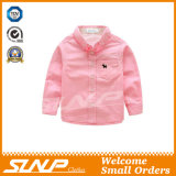 Langes Hülsen-Hemd des Jungen mit Baumwolle 100%