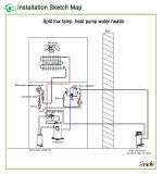 - 25c Lucht de Bij lage temperatuur van Evi van het Gebruik aan de Warmtepomp van het Water Voor het Verwarmen van Koel Heet Water