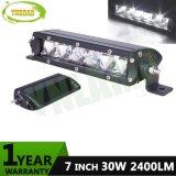 지프 SUV를 위한 7inch 30W IP67 크리 사람 LED 표시등 막대