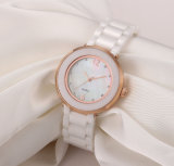 White Diamond Ceramic Watch Ladies Relógios