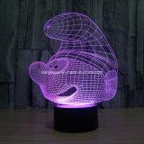 中国の製造者からの高品質3D LED夜ランプのスパイダーマン3Dの錯覚LEDの装飾的なライト