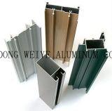 Profils en aluminium/profil en aluminium de pulvérisation d'extrusion carbone de fluor