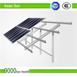 Sistema di alluminio del montaggio del comitato solare di PV del tetto dello stagno, parentesi solari, sistema solare commerciale