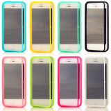 Contact Screen TPU Flip Cover Cas pour l'iPhone 5s