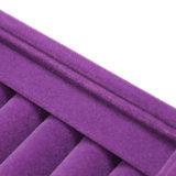 Роскошная пурпуровая коробка случая кольца ювелирных изделий бархата