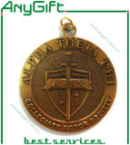 Morire Casting Metal Medal con Antique Bronze Plating