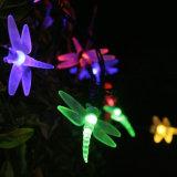 Lumières féeriques solaires de chaîne de caractères de DEL 30 DEL 2 de libellule multicolore de modes