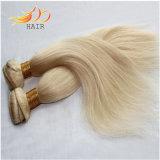 100%のモンゴル人のRemyの人間の毛髪のブロンドの薄い色の毛