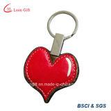 Corrente chave de couro do plutônio do coração vermelho por atacado para o presente
